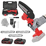Mini Chainsaw, 4-Inch Portable Rechargeable