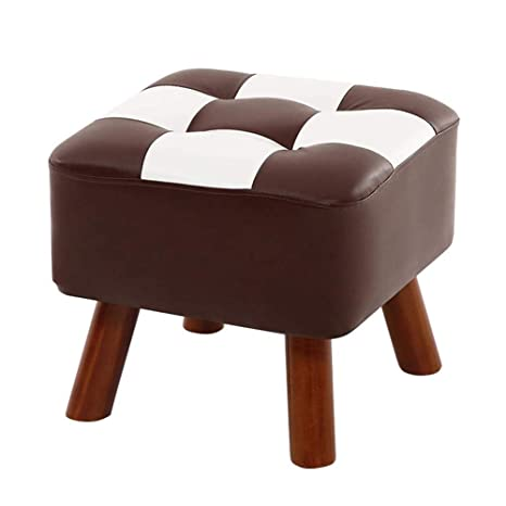 Astounding Ottoman Foot Stool Footstool Pu Leather Seatting Square Pabps2019 Chair Design Images Pabps2019Com