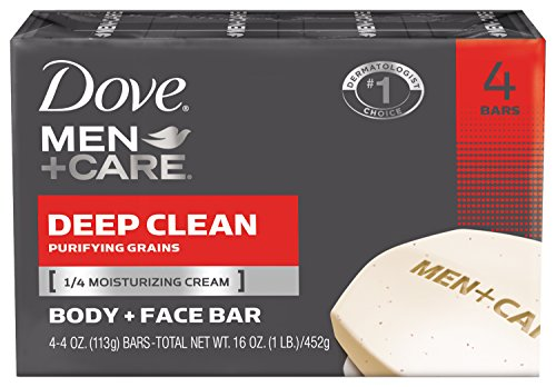 Dove Men + Care corps et visage Bar, Deep Clean 4 oz, 4 bars