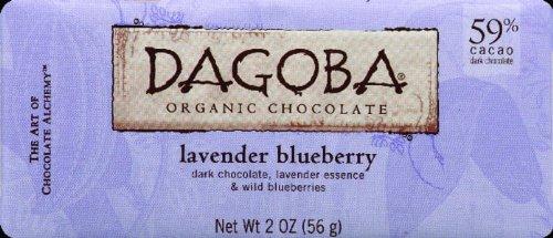 Dagoba Organic Chocolate Lavender Bar, 2-Ounce Bar (Pack of (59% Organic Dark Chocolate)