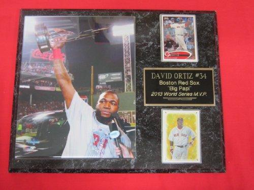 David Ortiz Boston Red Sox 2013 WORLD SERIES MVP 2 Card Collector Plaque w/8x10 Photo