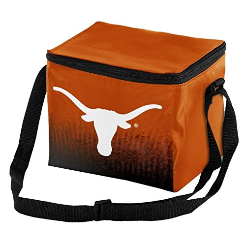 NCAA College Team Logo - Gradient Print - Lunch Bag Cooler - Holds up to a 6 Pack(Texas Longhorns)