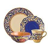 Pfaltzgraff Villa Della Luna Blue 32 Piece Dinnerware Set, Service for 8