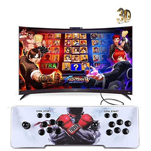 Happybuy Real Pandora's Box 6 Arcade Game Console HD Retro 3D Pandora's Key 7 Arcade Video Game 1500 in 1 Arcade Console with Arcade Joystick Support Expand Games for PC / Laptop / TV / PS4
