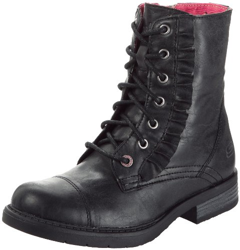 Skechers Kids Lil Frost Boot 87941L (Little Kid/Big Kid),Black,11 M US Little Kid - stylishcombatboots.com