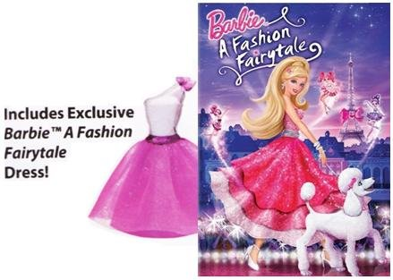Amazon Com Barbie A Fashion Fairytale Deluxe Dvd Edition With Barbie Dress William Lau Shelley Dvi Vardhana Shawn Mccorkindale Movies Tv