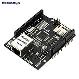 RobotDyn - W5100 Ethernet NetWork Shield with Micro-SD Card reader. Compatible for Arduino Uno, Mega, Leonardo