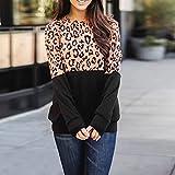 Acilnxm Womens Long Sleeves Leopard Print Blouses