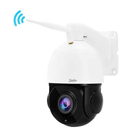 High Speed PTZ WiFi Security Camera 1080P – H.265 Wireless IP Dome Camera with 20X Optical Zoom, Two-Way Audio, Built-in SD Card Slot, Outdoor IP66 Waterproof for Security Surveillance