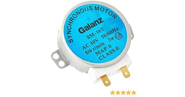 ALONGB Motor síncrono para Horno de microondas SM-16T AC 30V 3.5 ...