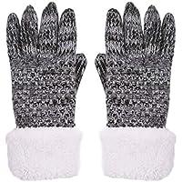 SUNNYTREE Women's Winter Gloves Wool Warm Fleece Lined Fur Cuff