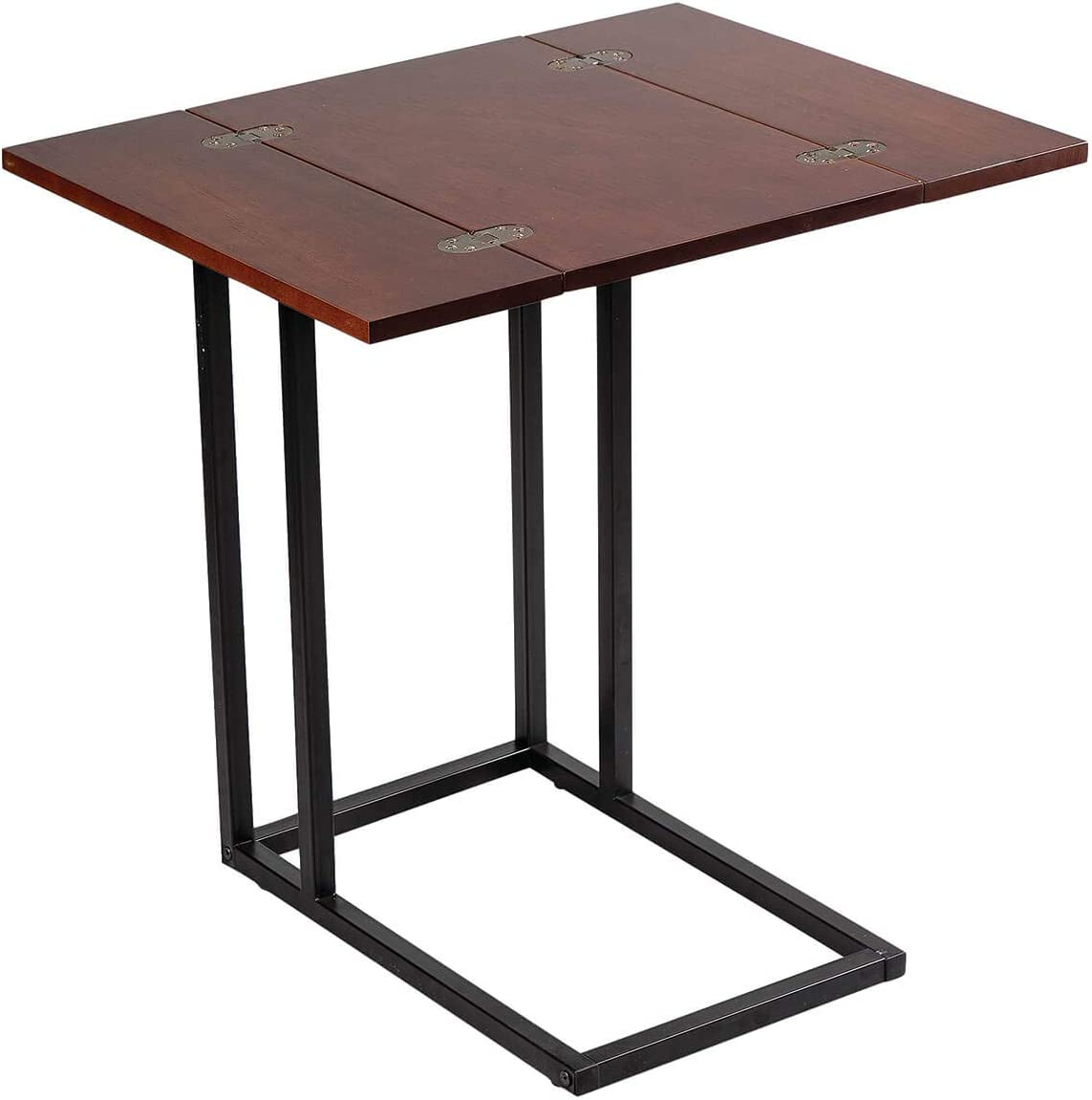 OakRidge Side Accent Table with Fold Out Top, Slim End Table