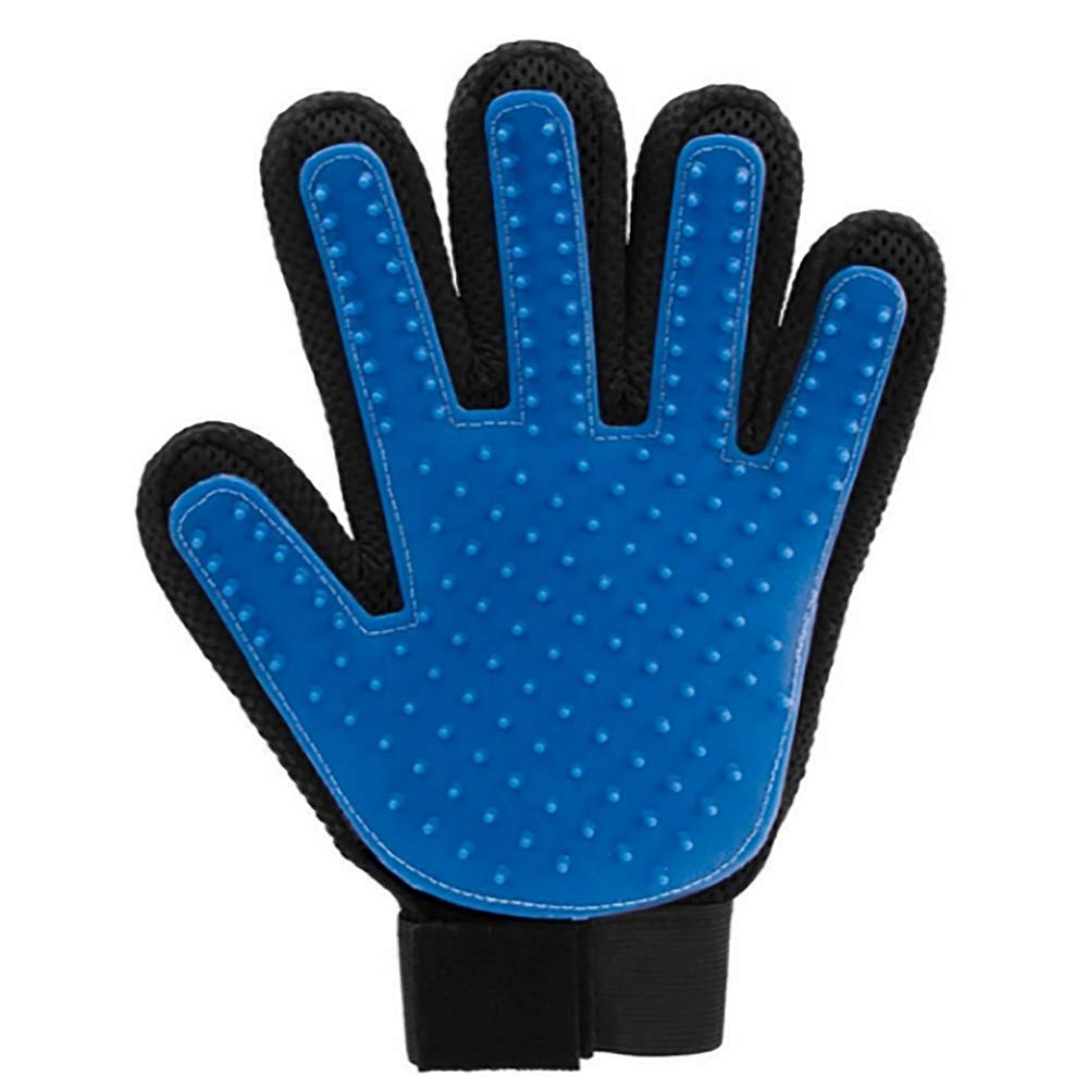 Lovely days ペットの毛取り手袋 - ペットグルーミンググローブ  ブルー B07G67JPWK