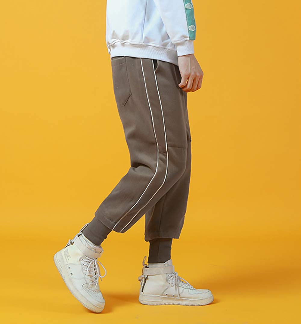SANHION Fashion Mens Closed Bottom Light Weight Retro Sweatpant