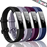 ZEROFIRE Bands Compatible with Fitbit Alta HR and Fitbit Alta (4 Pack), Replacement Sport Wristbands with Secure Metal Buckle for Fitbit Alta/Fitbit Alta HR/Fitbit Ace, Small Large