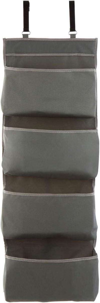 Premier Housewares/Organizador colgante para puerta de 4 bolsillos 10 x 34 x 90 cm Gris//Verde poli/éster