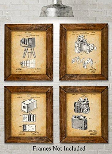 Original Camera Patent Art Prints - Set of Four Photos (8x10) Unframed