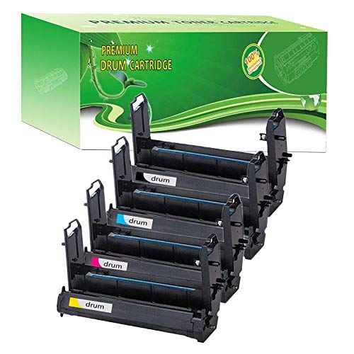 - ABCink 41962804 41962803 41962802 41962801 Drum Compatible for Okidata C7100 C7300 C7350 C7500 C7550 Color Laser Printer Image Drum,4 Pack(1 Black,1 Cyan,1 Yellow,1 Magenta)