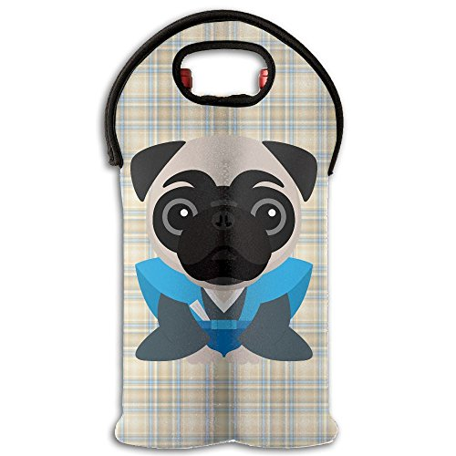 (YYH Wine Tote Carrier Bag A Dog In A Kimono Purse For Champagne,Water Bottles )