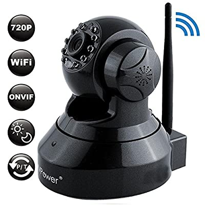 MVPower 1280x720P HD Wireless IP Camera for Home Security, WIFI/Network, Video Monitoring, Surveillance, plug/play, Pan/Tilt with Night Vision, Motion Detection, Mobile Remote Viewing Function from MVPower