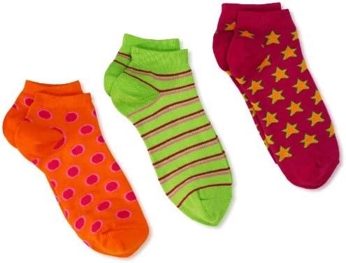 Jefferies Socks Little Girls  Dot//Stripe//Star Triple Treat Socks Pack of 3