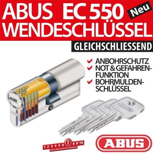ABUS EC550 cheerio-cilindro Lunghezza 45//60 mm con 4 chiavi