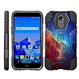 TurtleArmor | Compatible for LG Stylo 3 Case | LG Stylus 3 Case | Stylo 3 Plus [Dynamic Shell] Hybrid Dual Layer Hard Shell Kickstand Silicone Case - Colorful Nebula Galaxy
