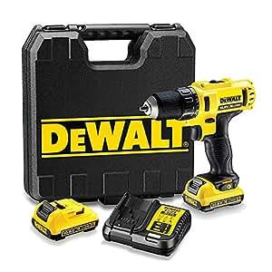 DeWalt DCD710D2-QW - Taladro atornillador XR 10 de 8V, dimensión de 10 mm con batería Li-Ion 2, 0 Ah
