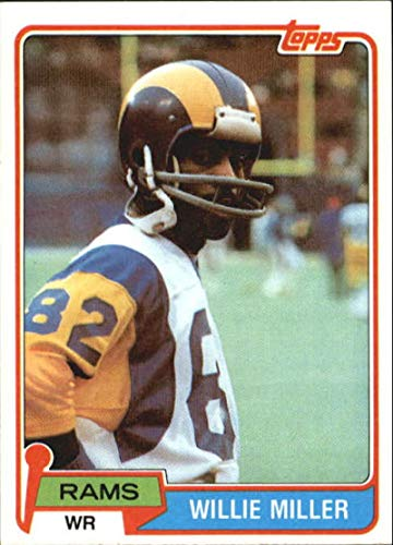 Miller Rams - 1981 Topps #24 Willie Miller LA Rams NFL Football Card NM-MT
