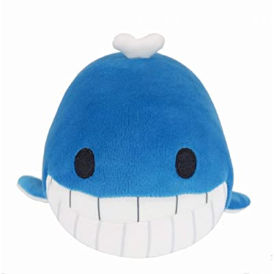 "wanjuM 10"" Nano Foam Particles Soft Plush Toy Blue Whale: Home & Kitchen"