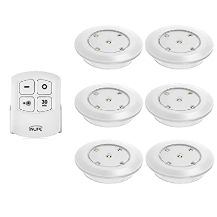 Amazon.com: INLIFE Under Cabinet Lighting, LED Wireless Battery ...