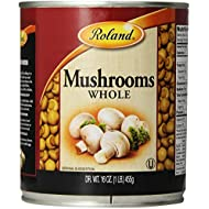 Roland Mushrooms, Whole, 16 Ounce (Pack of 4)