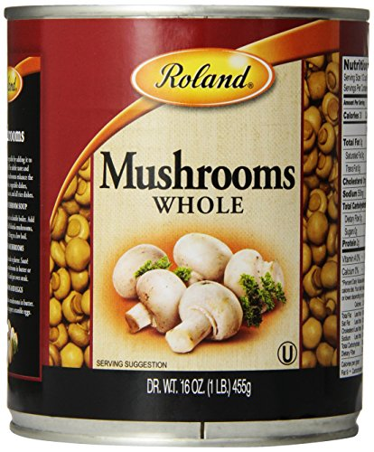 Roland Mushrooms, Whole, 16 Ounce (Pack of - Button White Mushroom