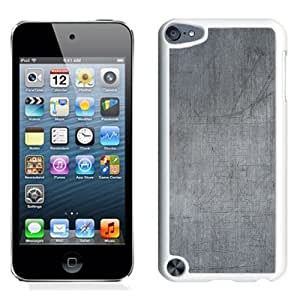 NEW Unique Custom Designed iPod Touch 5 Phone Case With Scratched Metal Surface Texture_White Phone Case