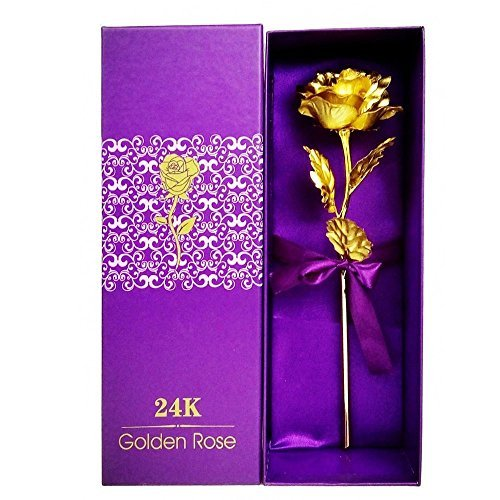 Justfund 24k Gold Rose Foil Flowers Presents For Birthday Gift Girlfriend