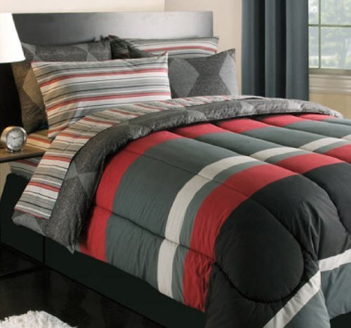 Teen boys and teen girls bedding sets ease bedding with for Black gray and red bedroom ideas