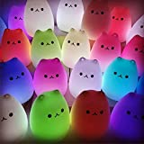My Name is eeDee. Cute Cat Night Light & Adoption Certificate. Ideal Gift for Cat Lovers. Warm White or 7 Colour Energy-Saving LED. USB Rechargeable Kids Light, Touch-Control Childrens Bedside Lamp