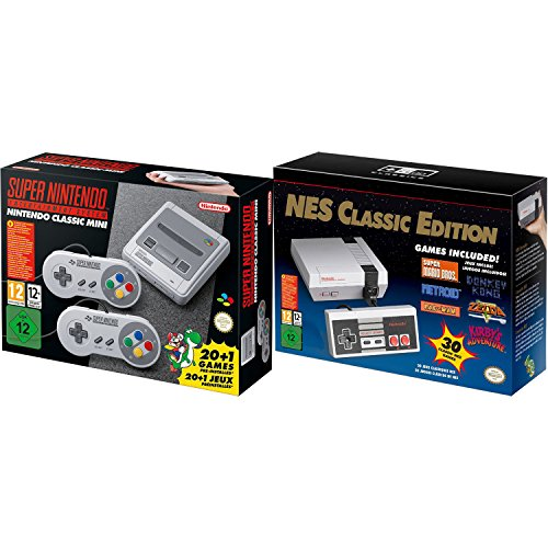 SNES and NES Nintendo Entertainment System Classic Bundle Region Free (Super Nintendo Flashback)