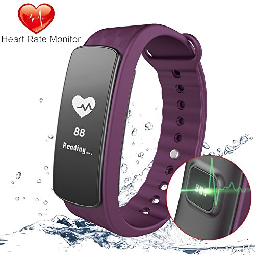 Gosund Fitness Tracker C8 Activity Tracker with Heart Rate Monitoring and Pedometer Call SMS Reminder for (Max Heart Rate Test)