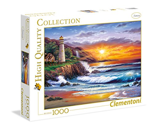 Lighthouse at Sunset - 1000 Piece Jigsaw Puzzle (Seascape Lighthouse)