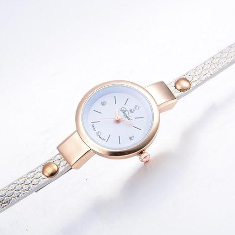 Relojes Pulsera Mujer ❤ Amlaiworld Reloj niña Reloj de brazalete de  diamantes de señoras Mesa de moda para estudiantes reloj mujer deportivo  (Blanco)  ... 4dcc8f023b11