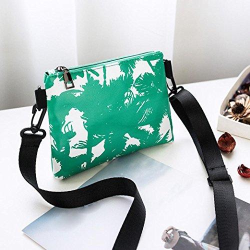 Phone Green Coin Shoulder Bag Leather Muium Women Printing Crossbody Coconut Bag Fashion Ladies Tree Bag Zipper A1ZAxn7B