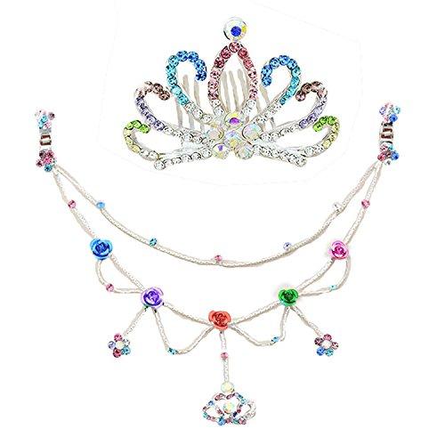 Generic Birthday child girl headband girls ice princess crown tiara rhinestone crown tiara bridal hair accessories Wang Guan head ornament ()