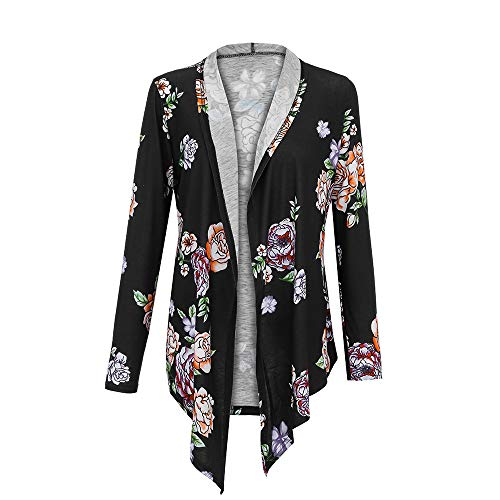 YKARITIANNA Women's Blouses & Button-Down Shirts Winter Long Sleeve Pattern Plus Size Open Blazer Cardigan Coat Tees ()