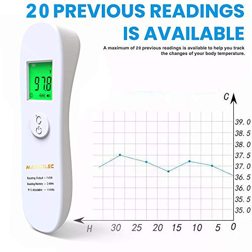Non-Contact Digital Infrared Forehead Thermometer for Adults and Children-CE,˚C / ˚F Adjustable Thermometer