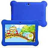 Besde Clearance Kids Tablet PC 7 Android 4.4 Case Bundle Dual Camera 1.2Ghz Wi-Fi Bonus Items (7'', Blue)