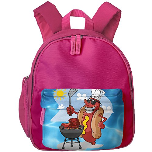 Hot Dog Chef Funny Kids Shoulders Bag School Trip Backpack Book (Mummy Hotdogs)