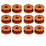 LBK 12-Pack Replacement 10-Foot Grass Trimmer/Edger Spool Line , Compatible Model Worx WA0010