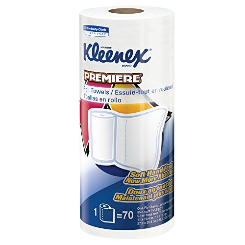Kleenex Towels Premier Kitchen Paper Towels (13964), Cloth-Like Softness, Perforated, 24 Rolls / Case, 70 Kleenex Paper Towels / (Case Kitchen)