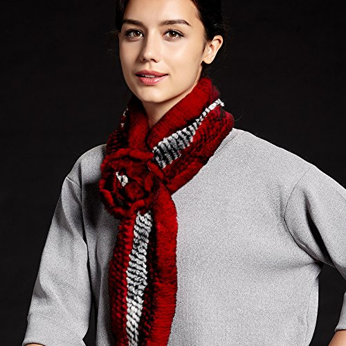Wuyulunbi@ Autumn and Winter Scarf Knitted Scarf,Wine Red Ash